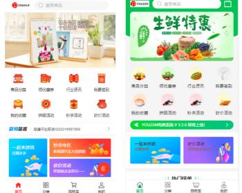 【运营版】在线YOUZAN分销商城小程序生鲜系统拼团秒杀直播带货